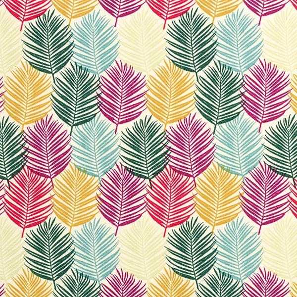 Tissu de décoration d'extérieur Feuilles tropicales – nature