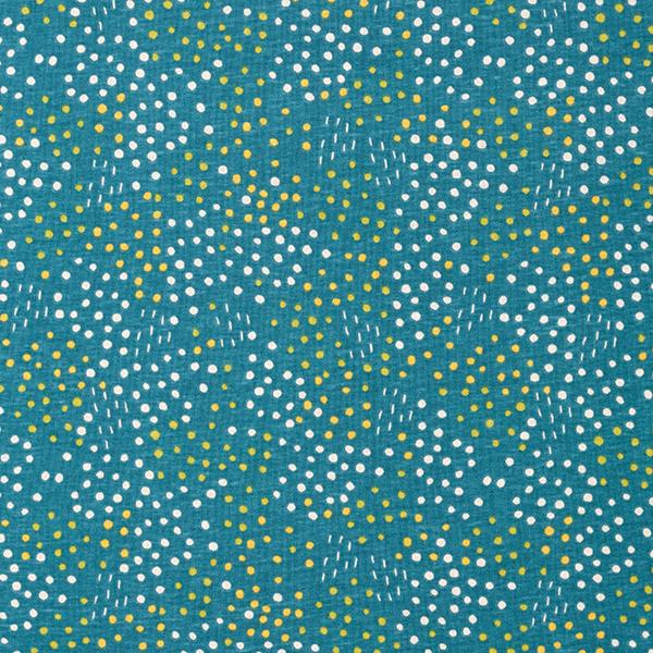 PUL Jersey coton Points – bleu turquoise