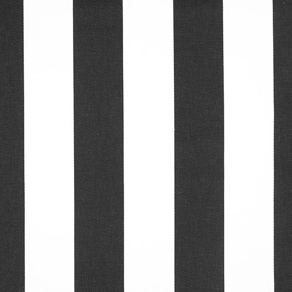 Sergé en coton Rayures 3 – noir/blanc