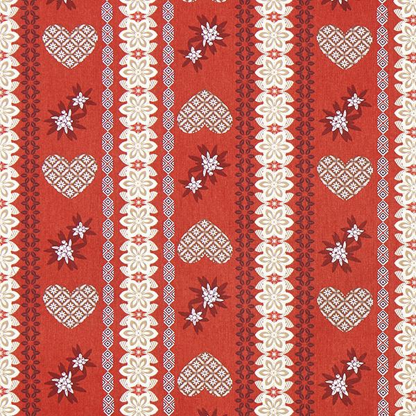 Tissu de décoration Sergé Edelweiss – rouge