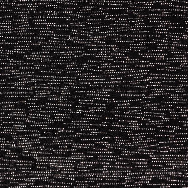 Velours stretch morse étincelant – noir/argent