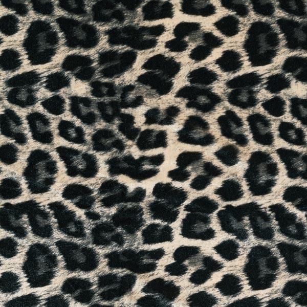 Stretch-Samt Leopard – hellbeige/schwarz
