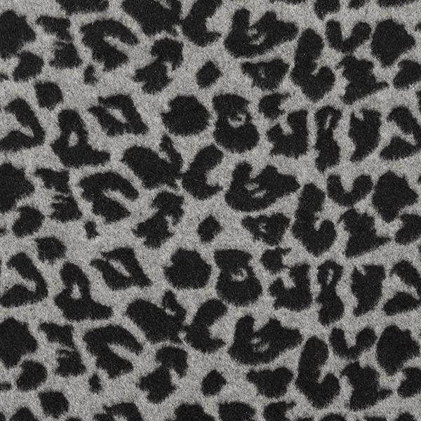 Tissu de manteau léopard – gris/noir