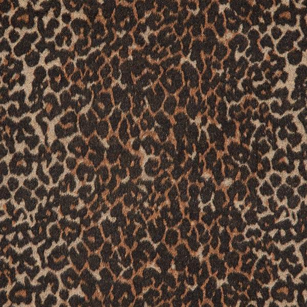 Tissu de manteau léopard camouflage – marron/beige