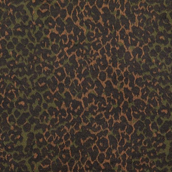 Tissu de manteau léopard camouflage – marron/olive foncé