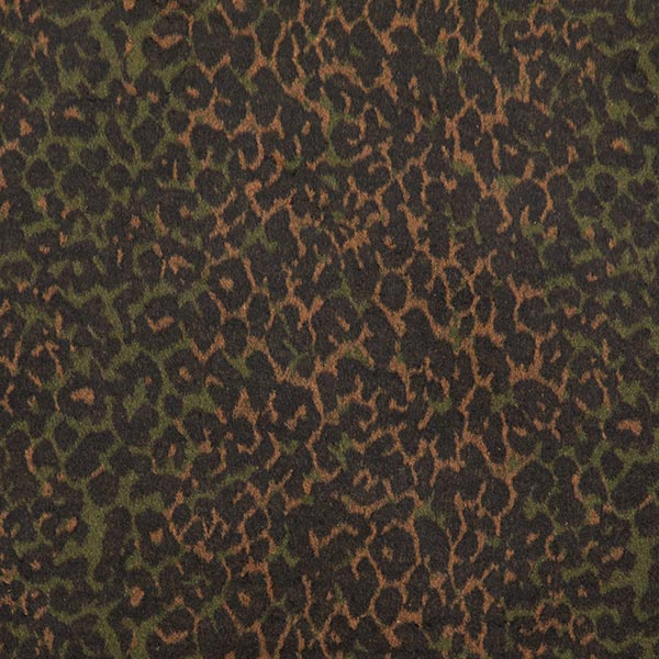 Mantelstoff Leopard Camouflage – braun/dunkeloliv