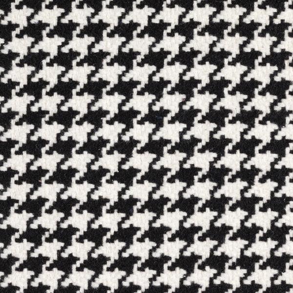 Mantelstoff Hahnnetritt 24 mm – schwarz/weiss