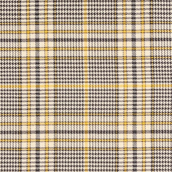 Tissu de pantalon Stretch Glencheck – beige/jaune