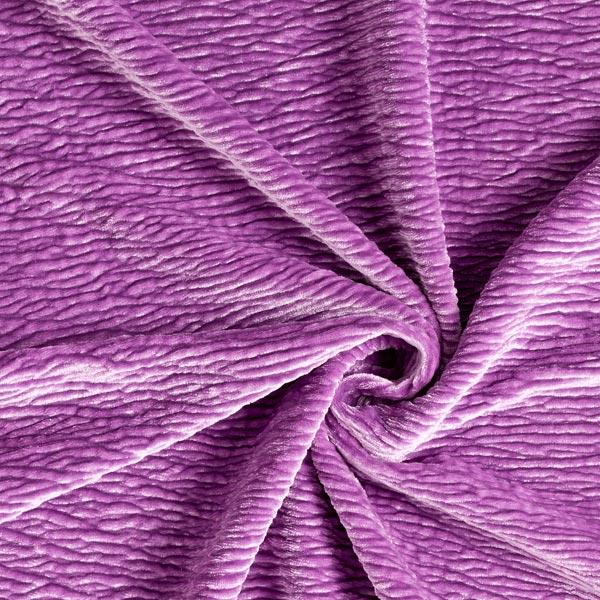 Stretch-Samt Crinkle-Effekt – violett