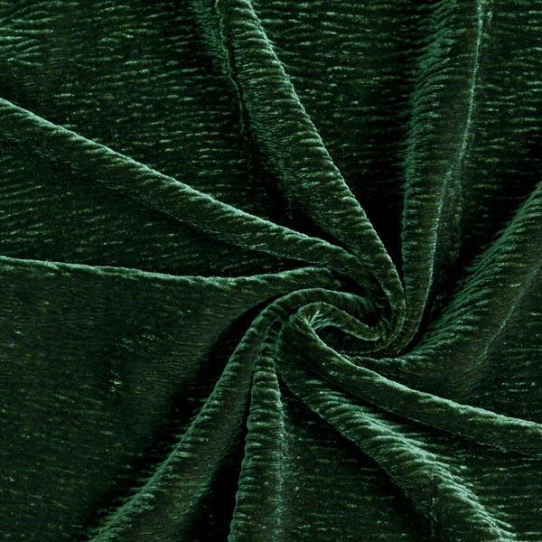 Stretch-Samt Crinkle-Effekt – dunkelgrün