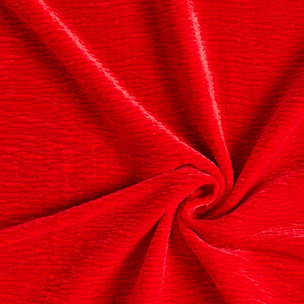 Velours stretch Effet Crinkle – rouge