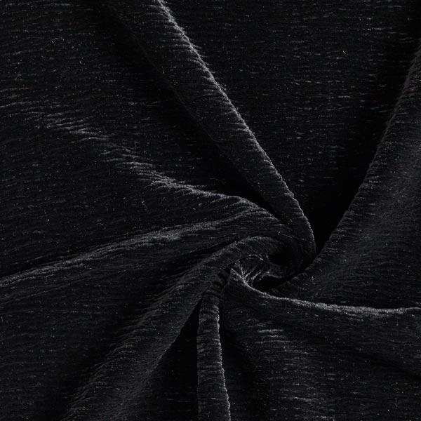 Velours stretch Effet Crinkle – noir