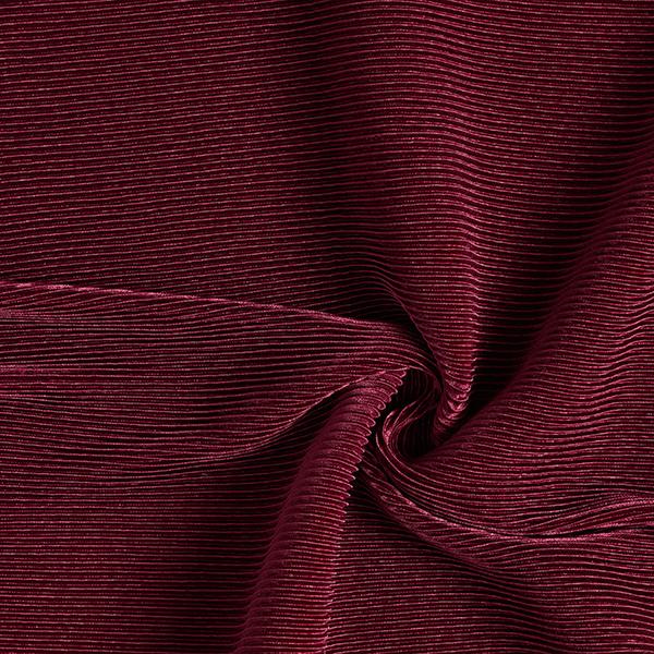 Jersey plissé Brillance noble – rouge bordeaux