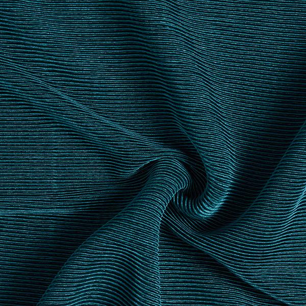Jersey plissé Brillance noble – pétrole