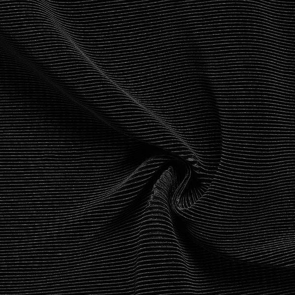 Jersey plissé Brillance noble – noir