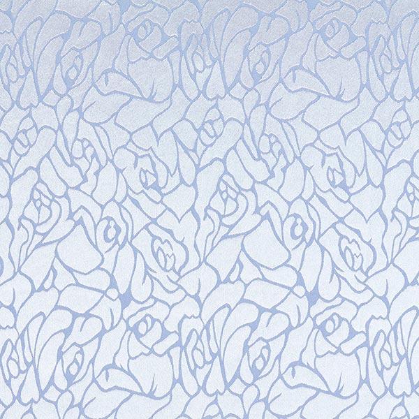 Blusenstoff Jacquard Abstraktes Blumen-Muster – babyblau