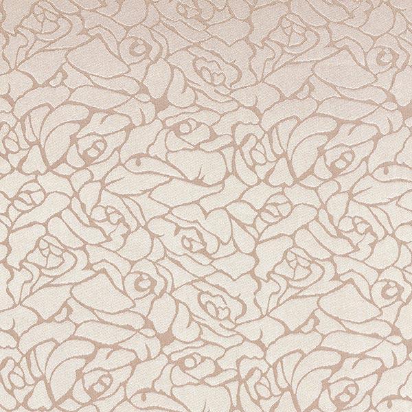 Blusenstoff Jacquard Abstraktes Blumen-Muster – beige