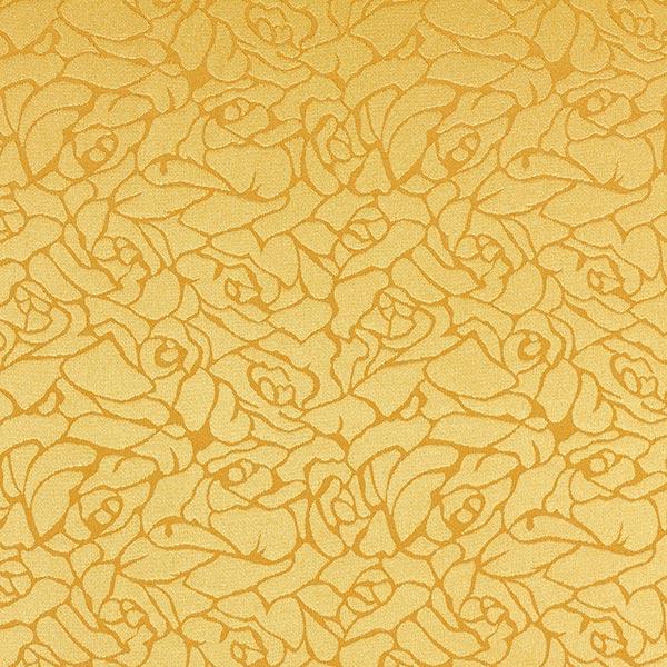 Blusenstoff Jacquard Abstraktes Blumen-Muster – gelb