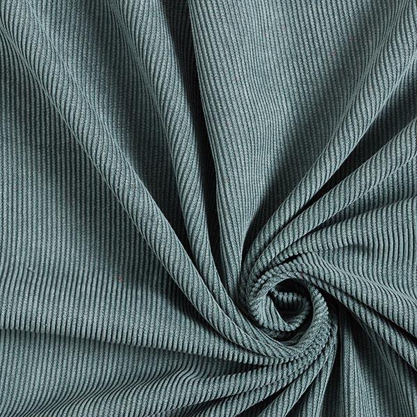 Velours à côtes fines Uni – bleu turquoise