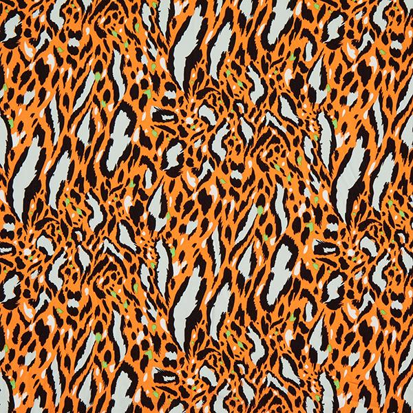 Blusenstoff Leoprint – orange