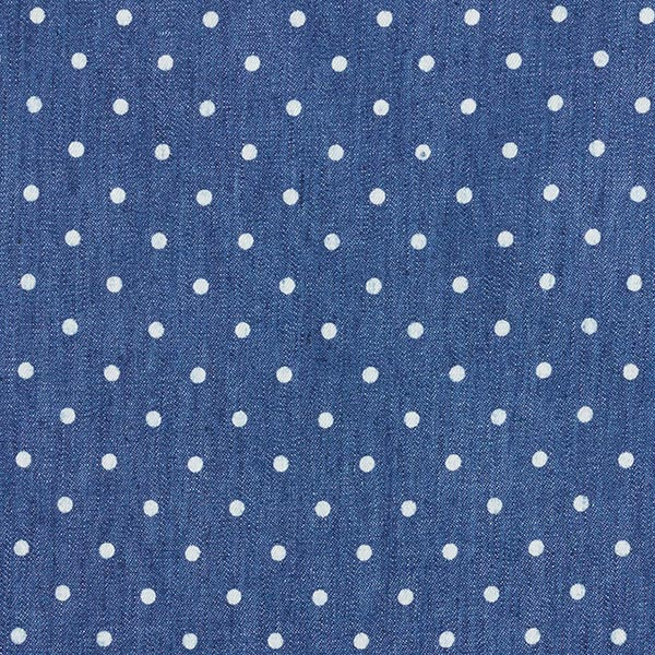 Chambray Punkte – jeansblau