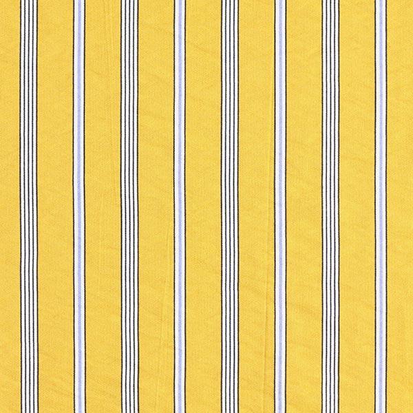 Tissu pour chemisier Mélange viscose Rayures tendance – moutarde