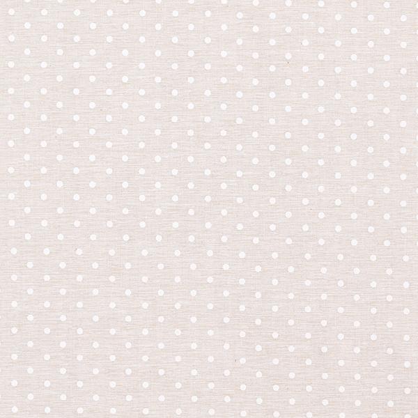 Tissu pour chemisier Aspect lin Points – nature/blanc
