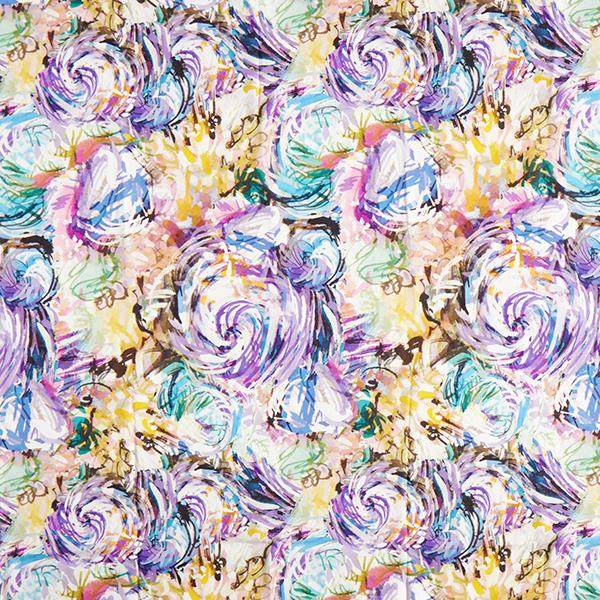 Mélange viscose lyocell Aquarelle abstrait – mélange de couleurs