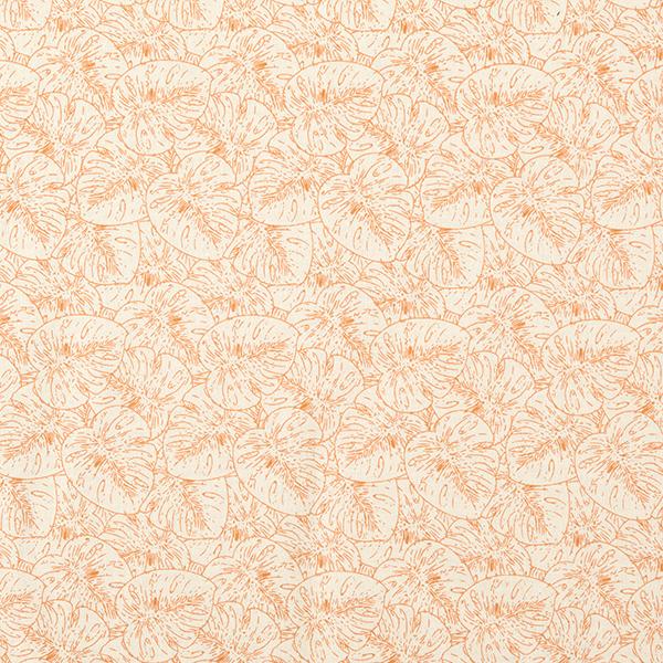 Tissu pour chemisier Mélange coton lin Feuilles monstera – nature/marron clair