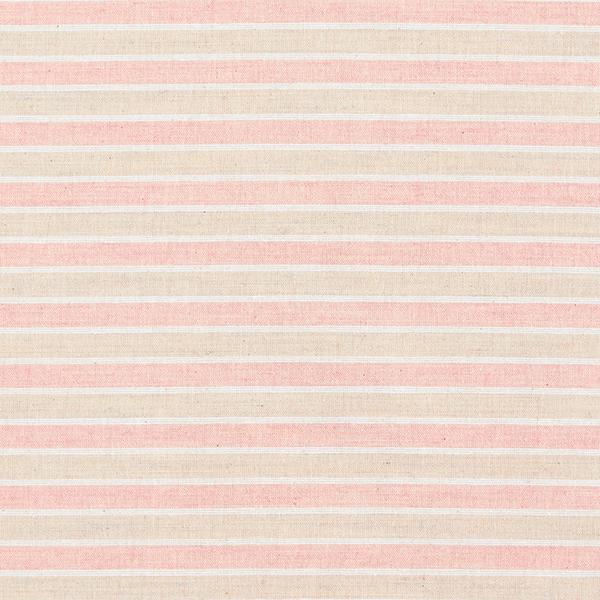 Tissu pour chemisier Aspect lin Rayures horizontales – saumon/nature