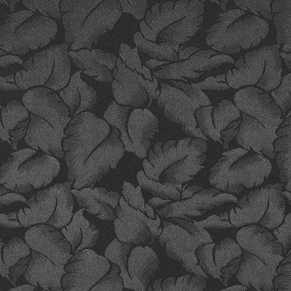 Jacquard satin Feuilles – noir