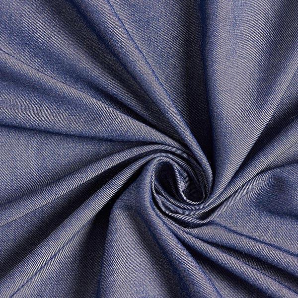 Chambray Viskose-Mix Stretch Jeanslook – marineblau
