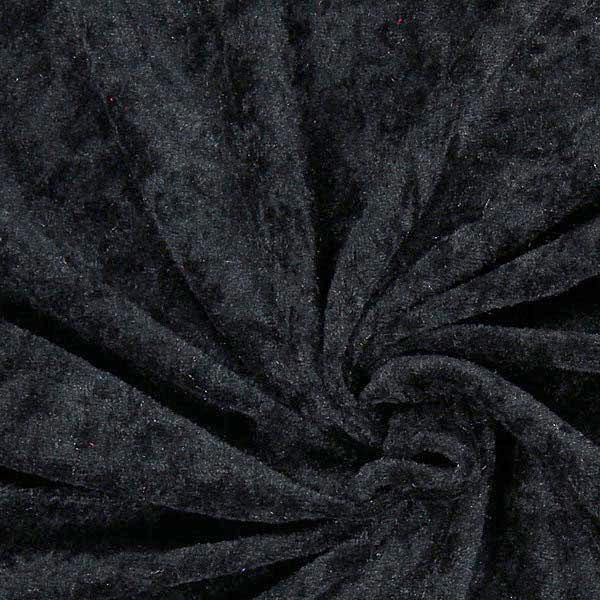 Pannesamt - schwarz