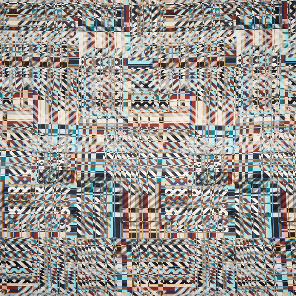Viskosejersey Geometric digital – türkis