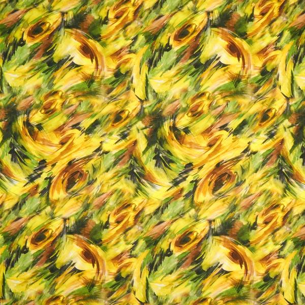 Jersey viscose Abstrait numérique – jaune