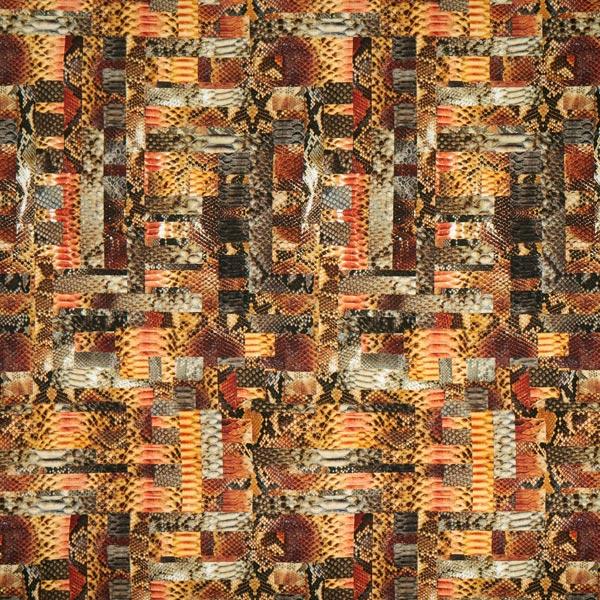 Viskosejersey Schlange digital – braun