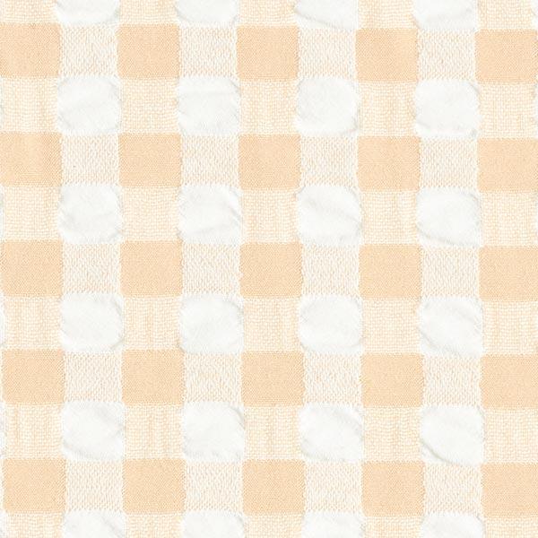 Tissu Carreaux Aspect Seersucker – beige