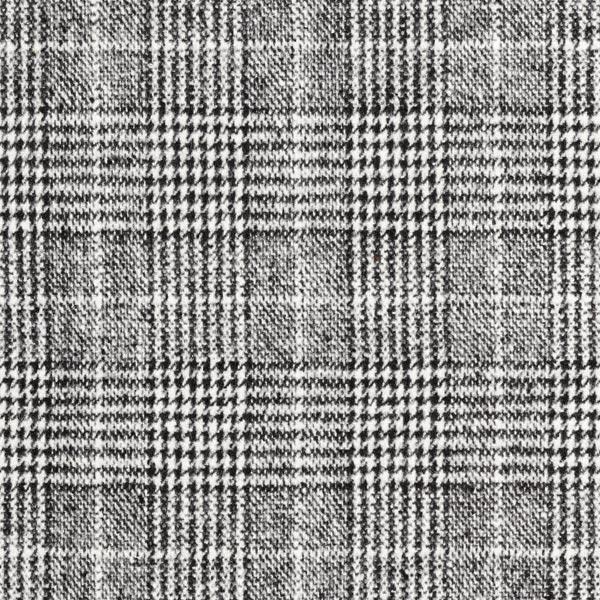 Mantelstoff Glencheck weich – schwarz/weiss