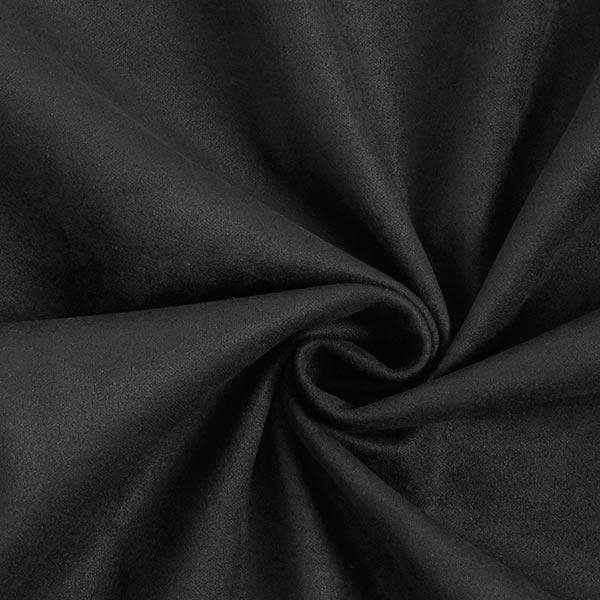 Tissu suédine Scuba aspect daim – noir