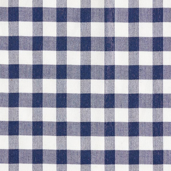 Tissu de chemise Carreaux Lurex – bleu marine/blanc