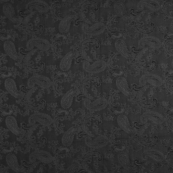 Futterstoff Jacquard Paisley changeant – schwarz
