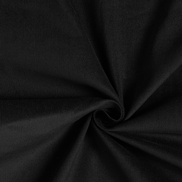 Feincord Babycord Uni – schwarz