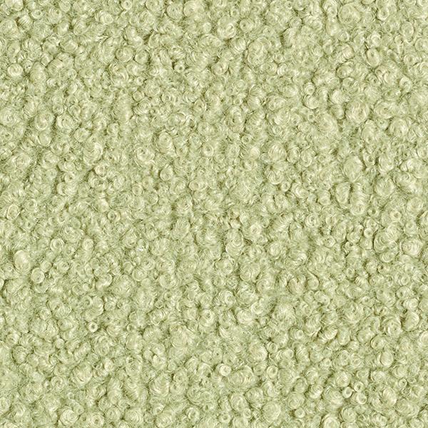 Tissu pour manteau Krimmer Aspect peau de mouton – vert menthe