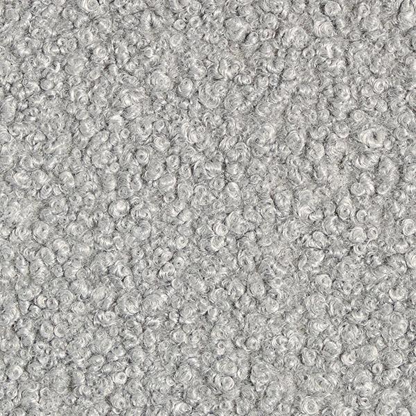 Tissu pour manteau Krimmer Aspect peau de mouton – gris