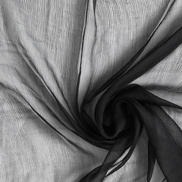 Crêpe Chiffon Uni – noir