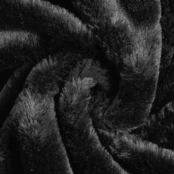 Kunstfell Stretch Panther – schwarz