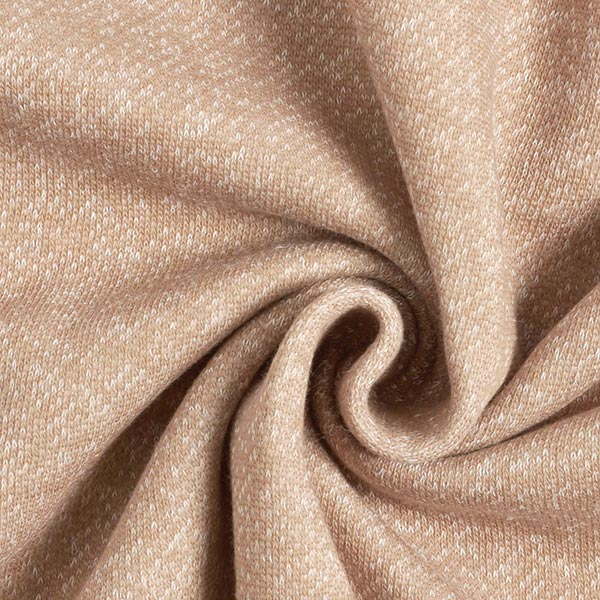 Tissu maille duveteux Chiné – beige