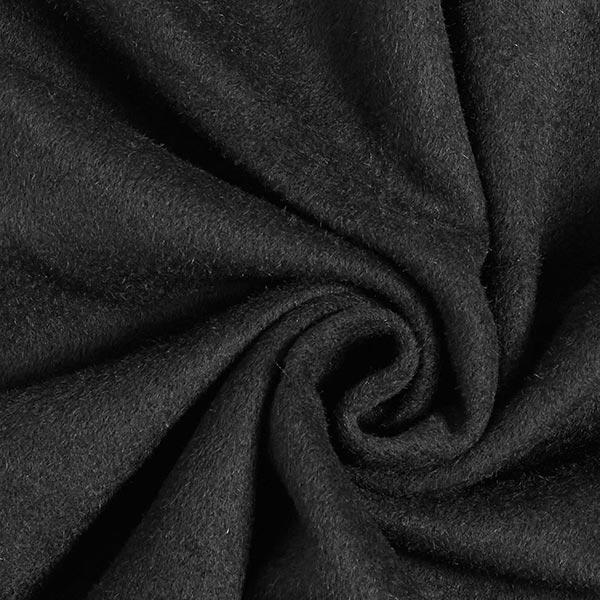 Tissu pour manteau Mélange laine vierge Uni – noir