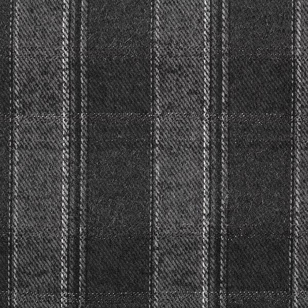 Tissu pour manteau Mélange laine vierge Carreaux Lurex – anthracite