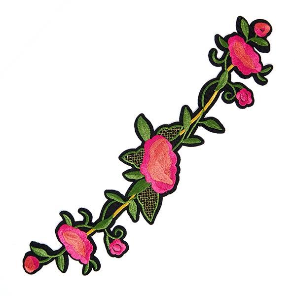 Patch Arabesque de roses (5,5 x 26,7 cm)